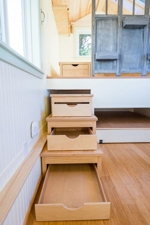 Storage Stairs - KerriJo's Tiny House by MitchCraft Tiny Homes