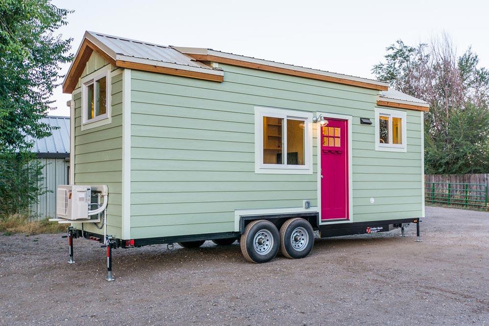 Green Exterior - KerriJo's Tiny House by MitchCraft Tiny Homes