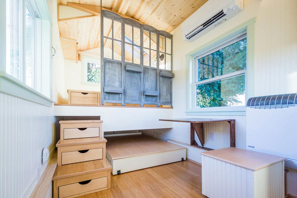 Table & Chest - KerriJo's Tiny House by MitchCraft Tiny Homes