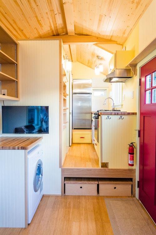 Raised Kitchen Platform - KerriJo's Tiny House by MitchCraft Tiny Homes