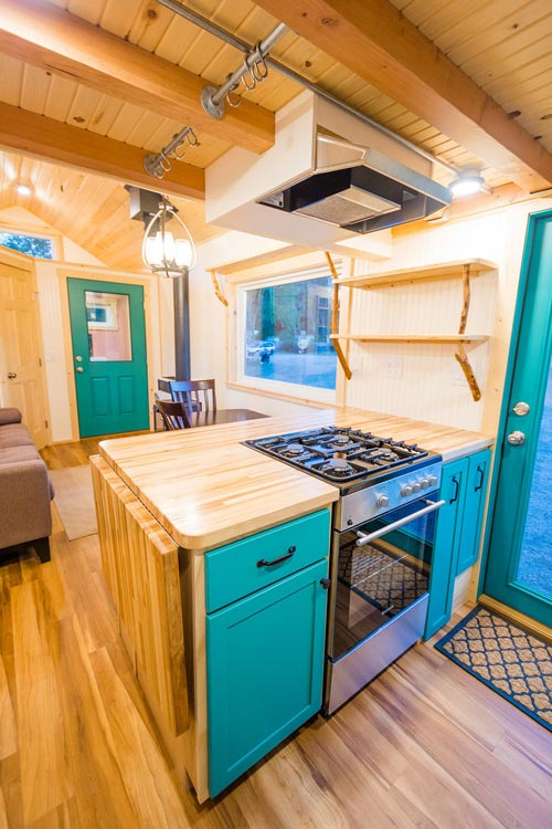 Fold Down Counter - Laura's Tiny House by MitchCraft Tiny Homes