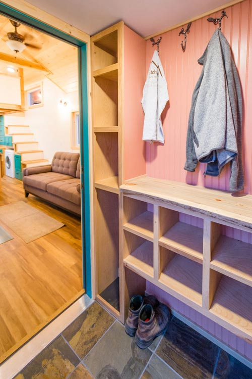 Mud Room - Laura's Tiny House by MitchCraft Tiny Homes