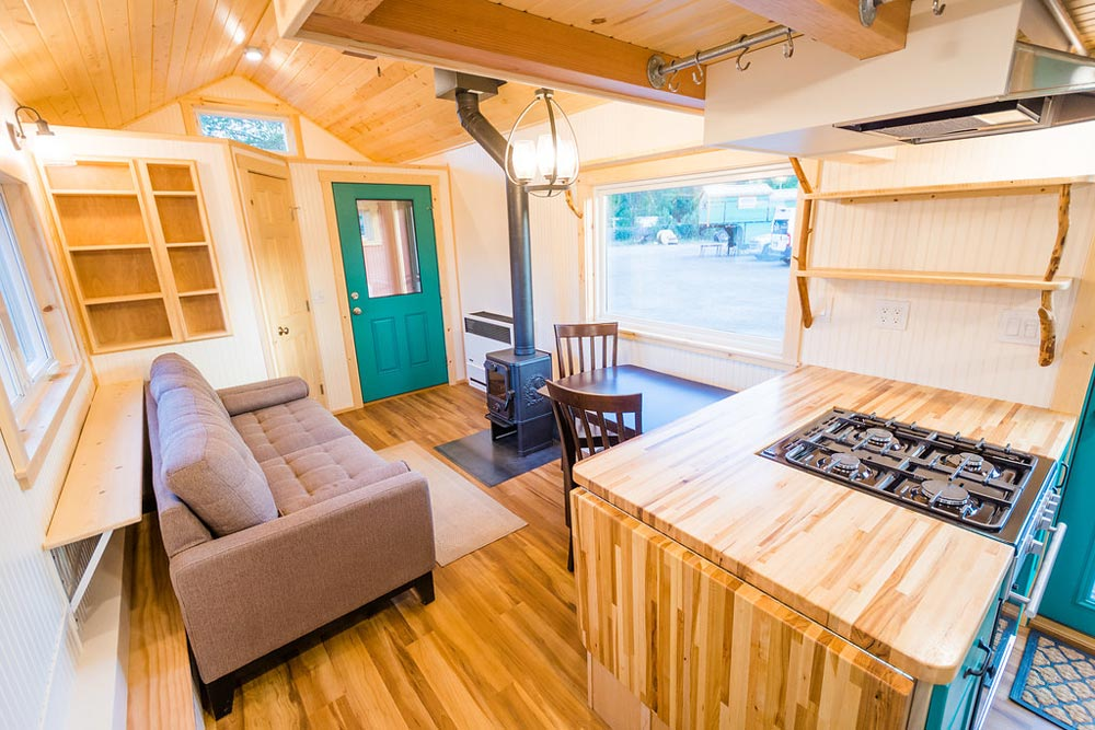 Living Area - Laura's Tiny House by MitchCraft Tiny Homes