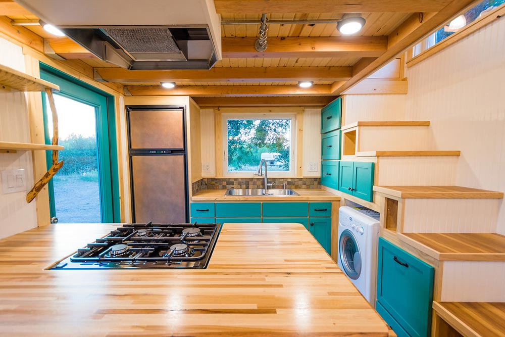 Butcher Block Counter - Laura's Tiny House by MitchCraft Tiny Homes