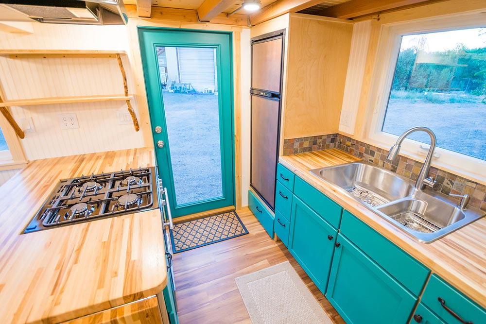 Kitchen Entry - Laura's Tiny House by MitchCraft Tiny Homes