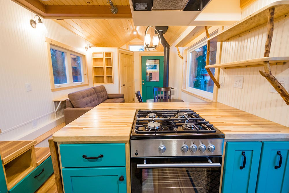 Gas Range - Laura's Tiny House by MitchCraft Tiny Homes