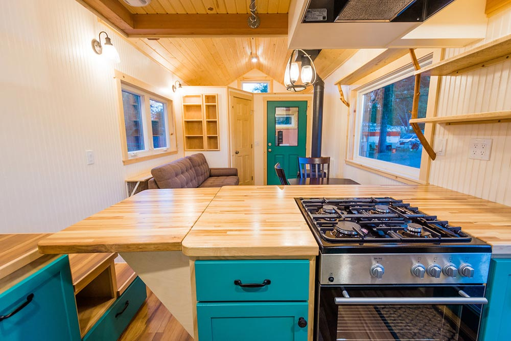 Counter Extension - Laura's Tiny House by MitchCraft Tiny Homes