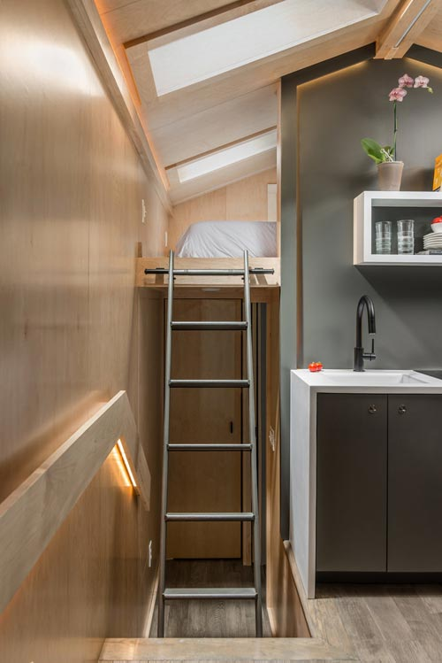 Loft Ladder - Orchid by New Frontier Tiny Homes