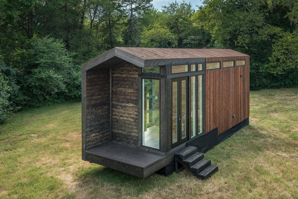 Covered Deck - Orchid by New Frontier Tiny Homes