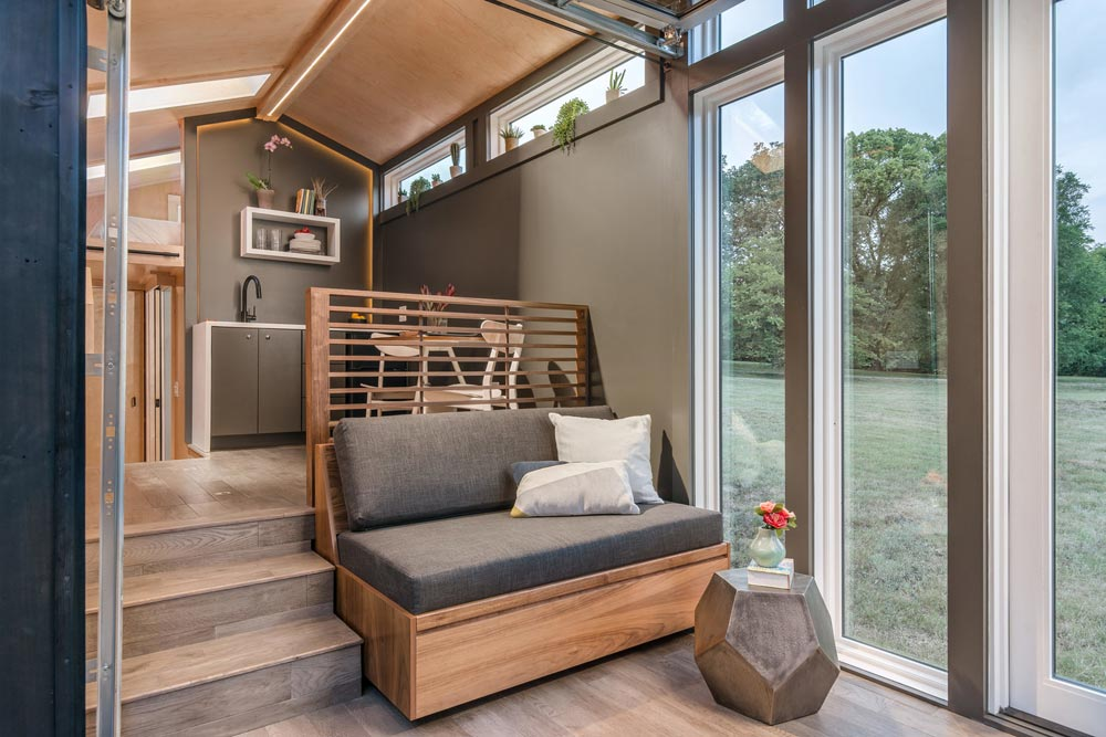 Slide Out Sofa - Orchid by New Frontier Tiny Homes