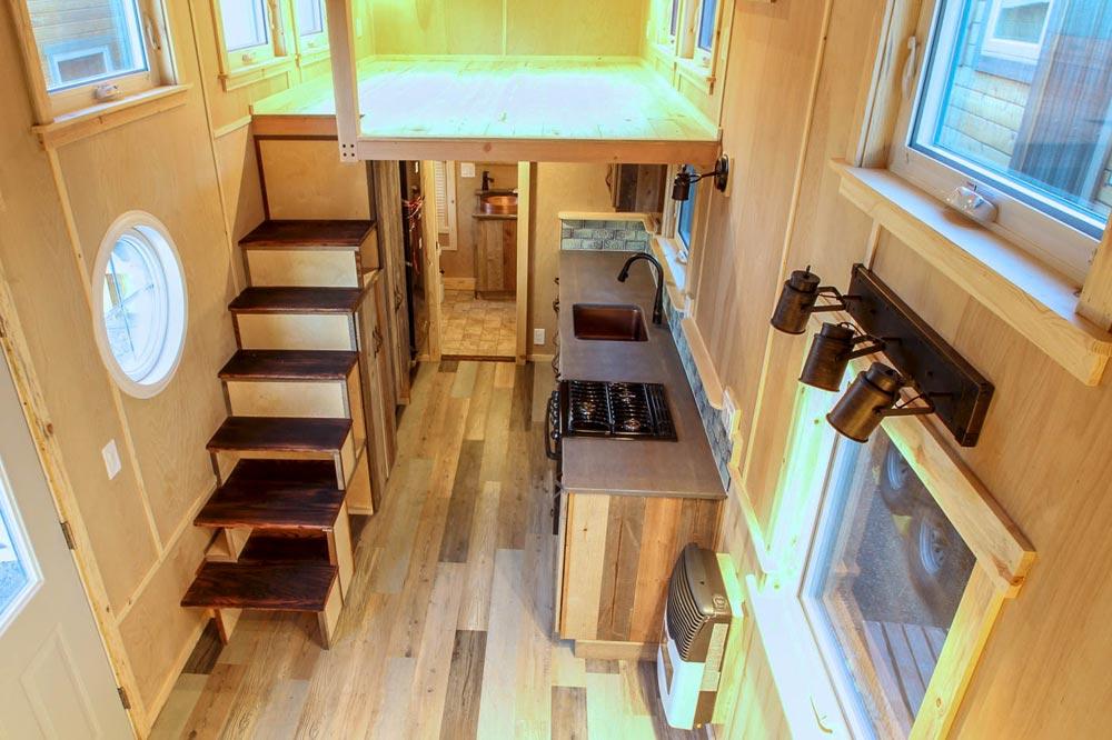 Kitchen & Loft - Santa Fe by SimBLISSity Tiny Homes