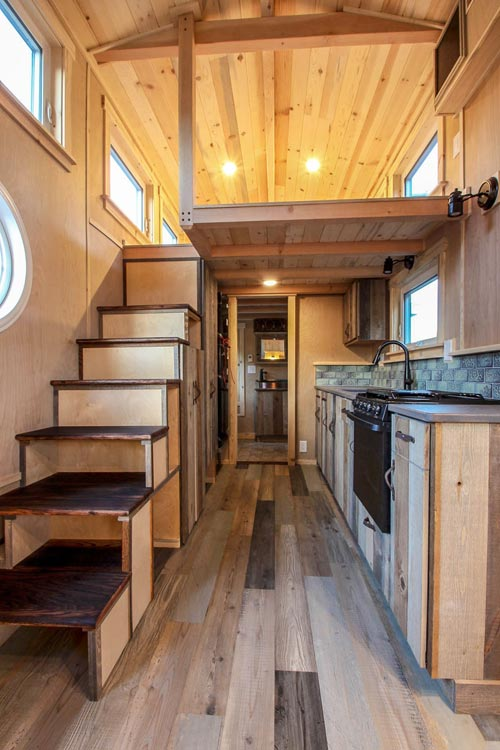 Kitchen & Stairs - Santa Fe by SimBLISSity Tiny Homes