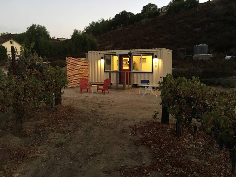 Evening Lighting - Temecula Wine Country Tiny Container Home