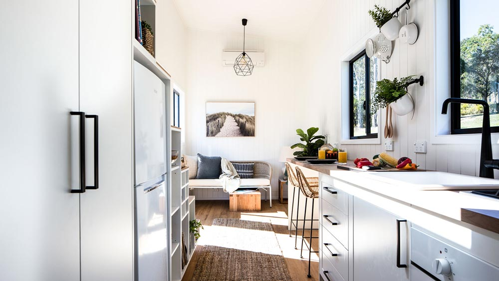 Kitchen & Living Room - Coogee 7.2 by Aussie Tiny Houses