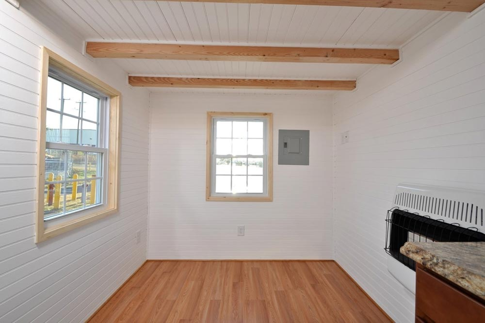 Open Beam Ceiling - Croft by Tiny House Building Company