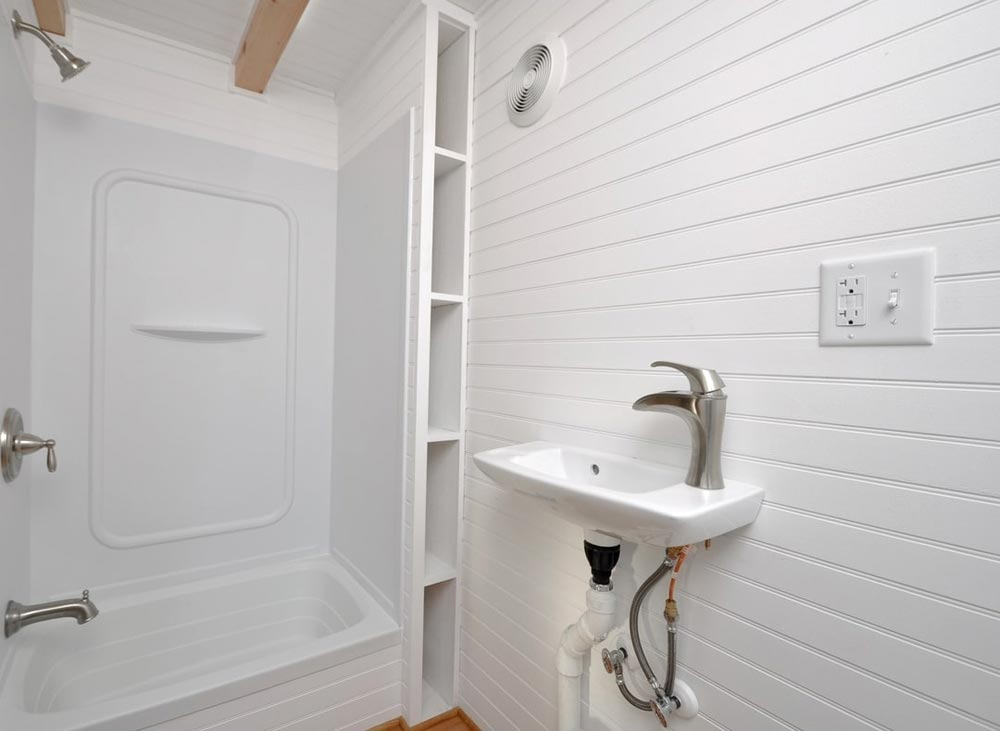 Sink & Shower - Croft by Tiny House Building Company