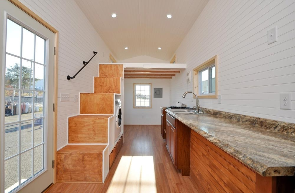 Kitchen & Living Room - Croft by Tiny House Building Company