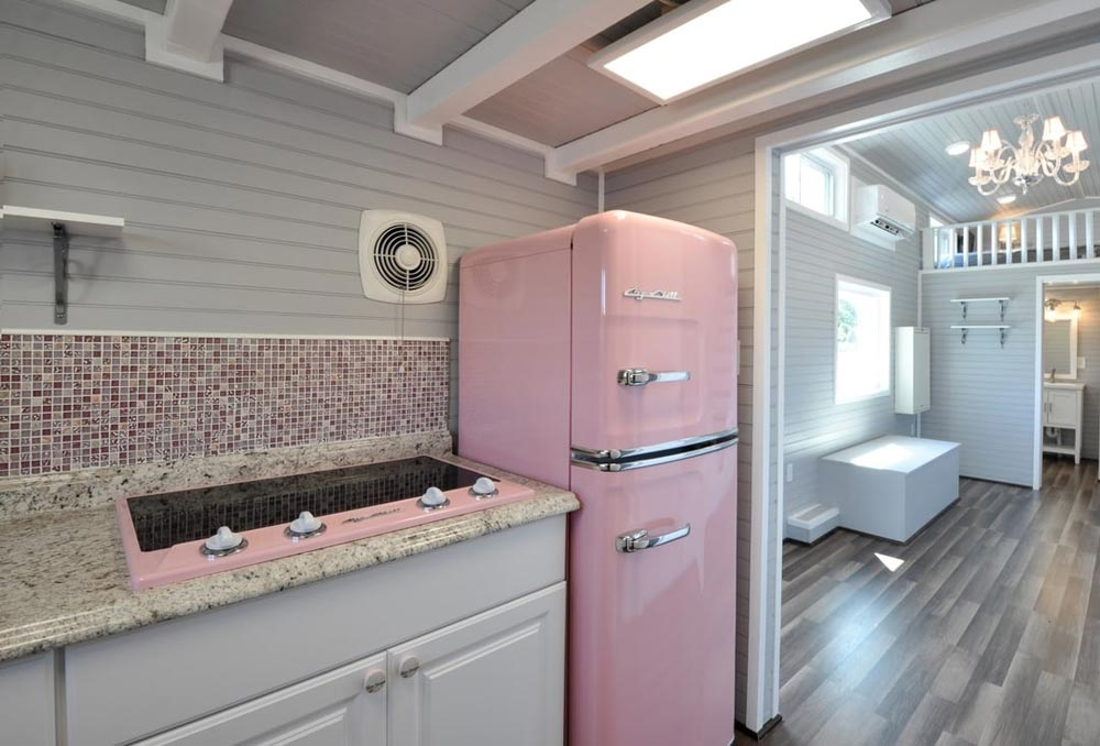 Retro Pink Appliances - Getaway by Tiny House Building Company