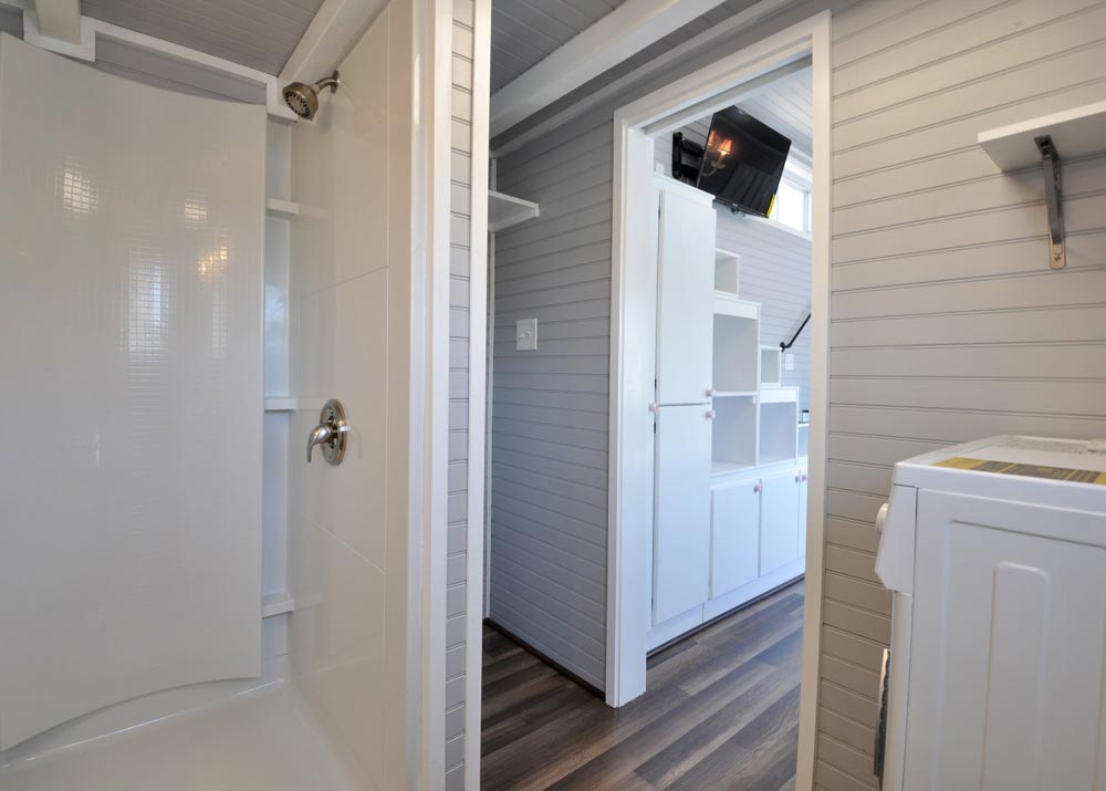 Bathroom Entry - Getaway by Tiny House Building Company