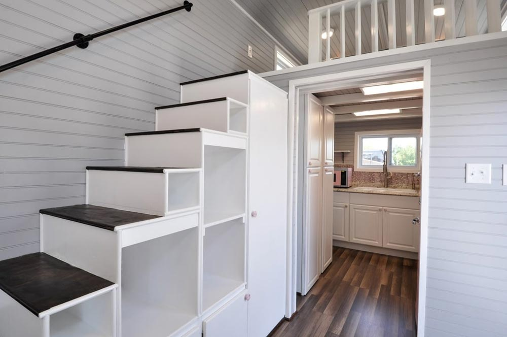 Storage Stairs - Getaway by Tiny House Building Company