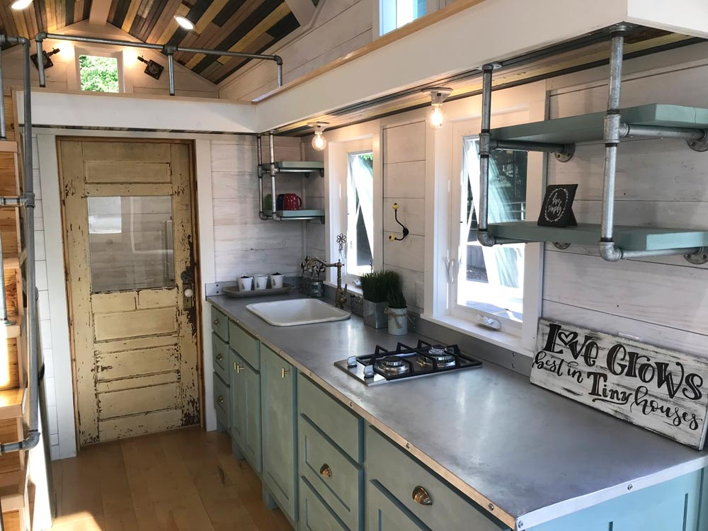 Stainless Steel Counter - Homestead by Rafter B Tiny Homes