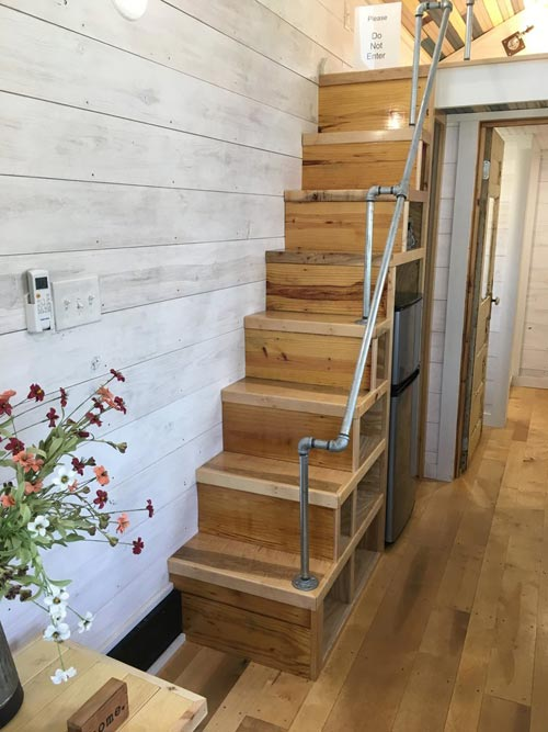 Storage Stairs - Homestead by Rafter B Tiny Homes