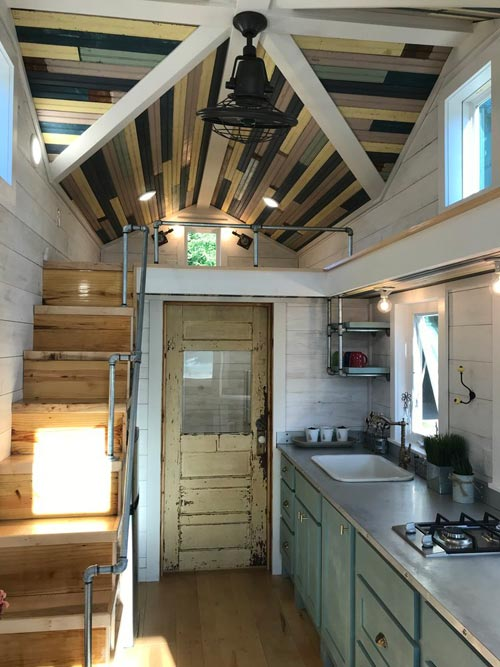 Reclaimed Door - Homestead by Rafter B Tiny Homes