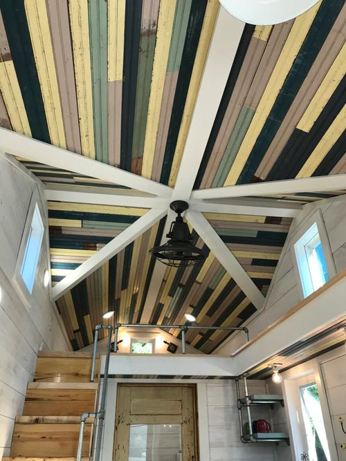 Vintage Beadboard Ceiling - Homestead by Rafter B Tiny Homes