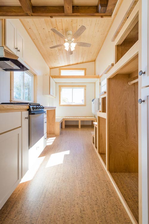 Kitchen & Living Room - Kailey's 22' Off-Grid Tiny House by Mitchcraft Tiny Homes
