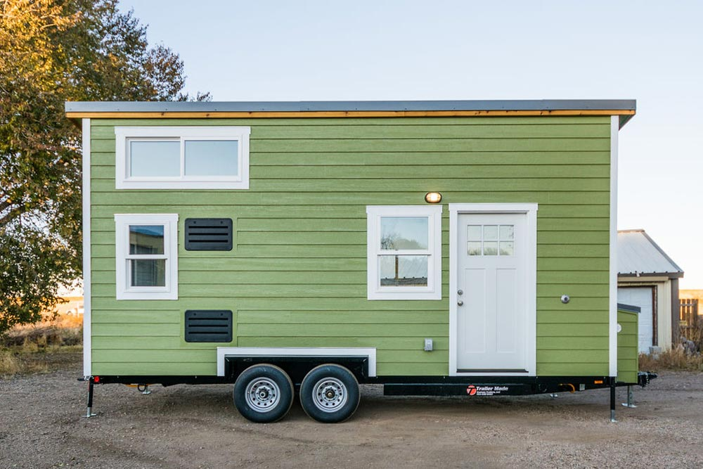 Green Exterior - Kailey's 22' Off-Grid Tiny House by Mitchcraft Tiny Homes