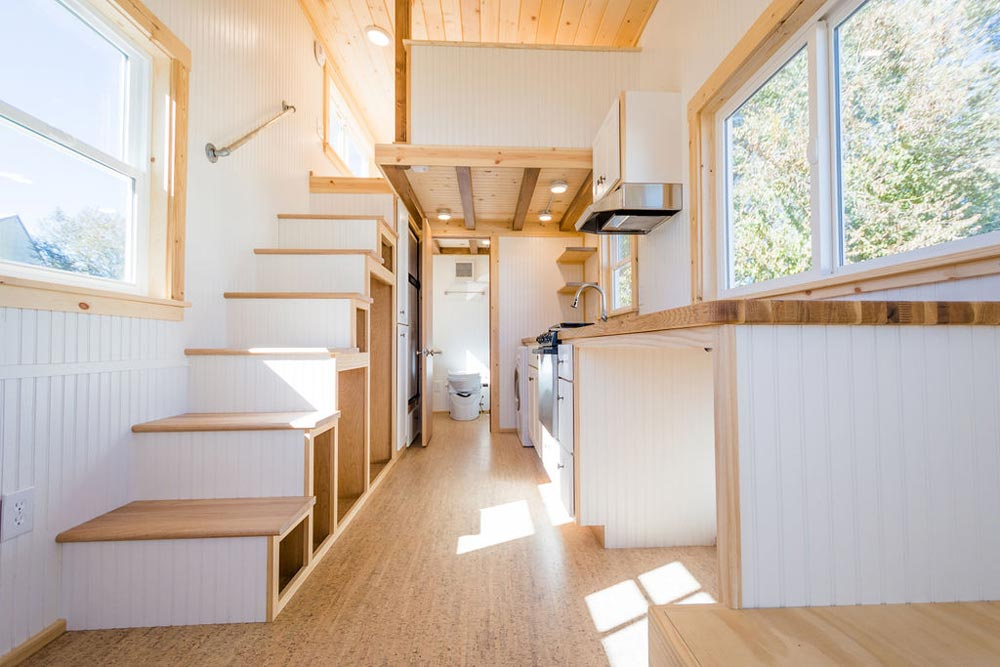 Cork Flooring - Kailey's 22' Off-Grid Tiny House by Mitchcraft Tiny Homes