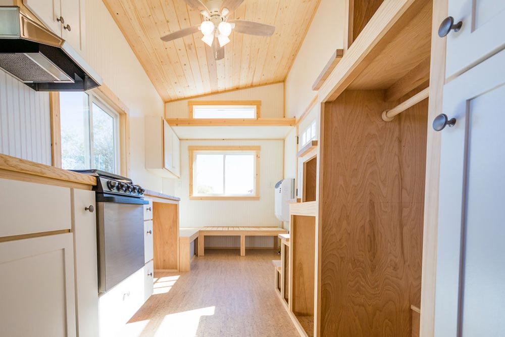 Kitchen & Storage Stairs - Kailey's 22' Off-Grid Tiny House by Mitchcraft Tiny Homes
