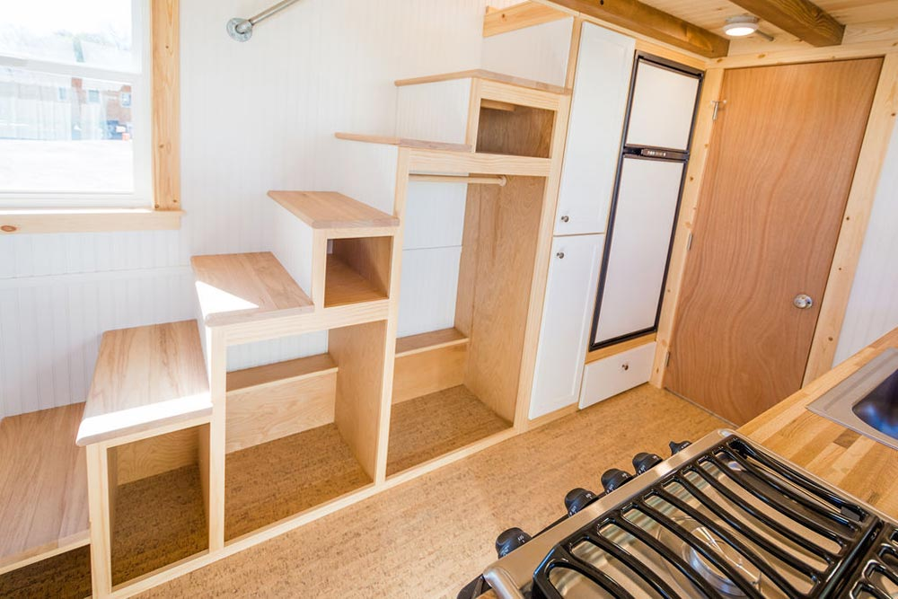 Storage Stairs - Kailey's 22' Off-Grid Tiny House by Mitchcraft Tiny Homes