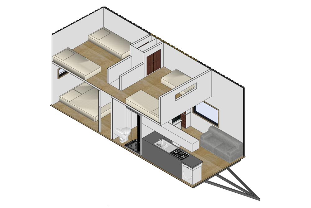 Floor Plan - Kauri by Tiny House Builders