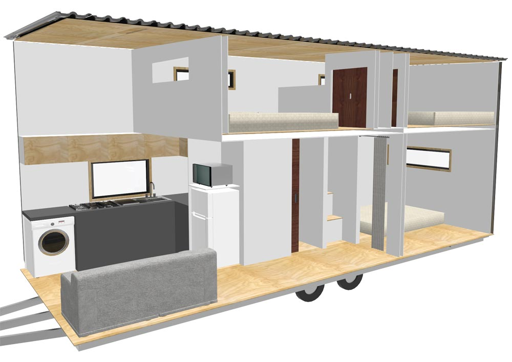 Layout - Kauri by Tiny House Builders