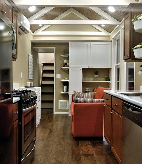 Kitchen & Living Room - Kingfisher by Blue Sky Tiny Homes