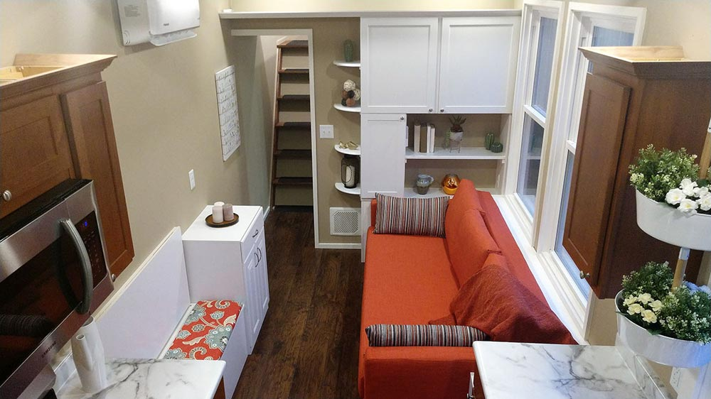 Living Room - Kingfisher by Blue Sky Tiny Homes