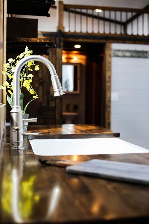 Gooseneck Faucet - Mini Mansion by Tiny House Chattanooga