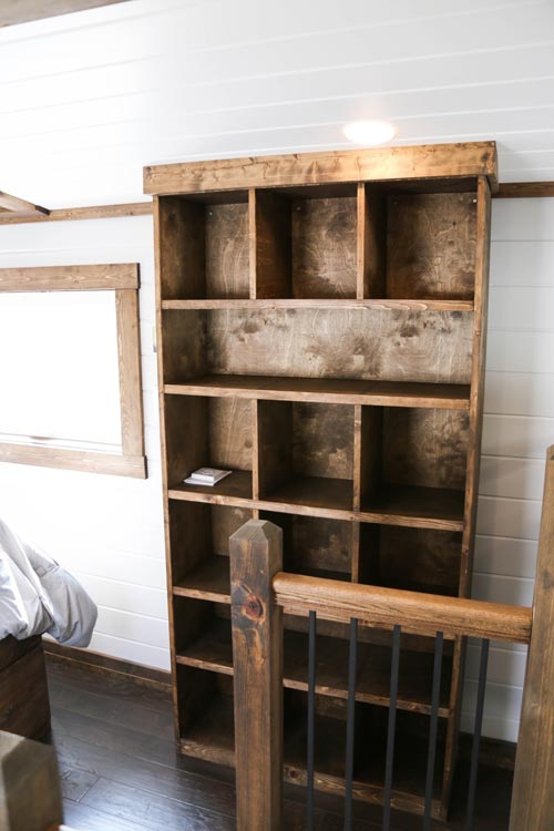 Built-In Shelves - Mini Mansion by Tiny House Chattanooga