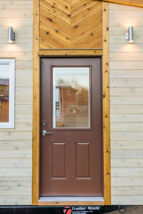 Front Door - 20' Tiny House by MitchCraft Tiny Homes