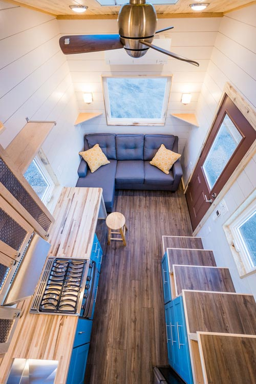 View From Loft - 20' Tiny House by MitchCraft Tiny Homes