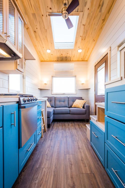 Kitchen & Living Room - 20' Tiny House by MitchCraft Tiny Homes