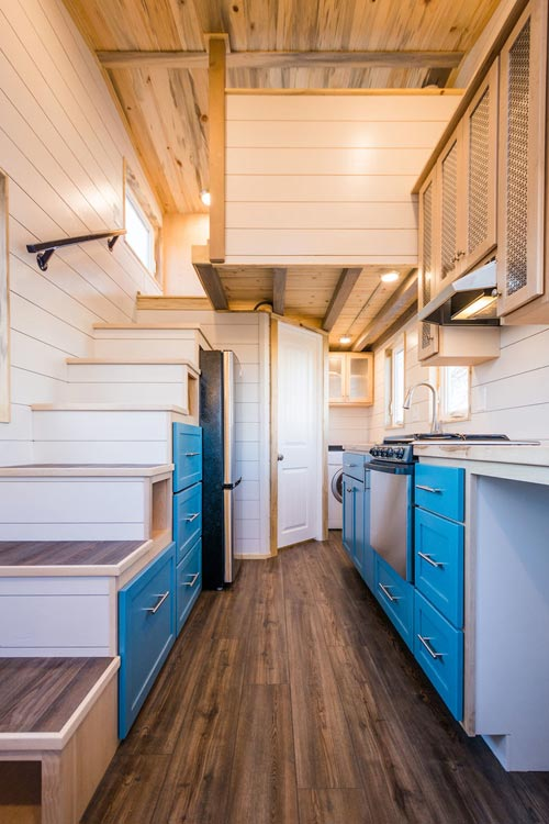 Kitchen & Stairs - 20' Tiny House by MitchCraft Tiny Homes
