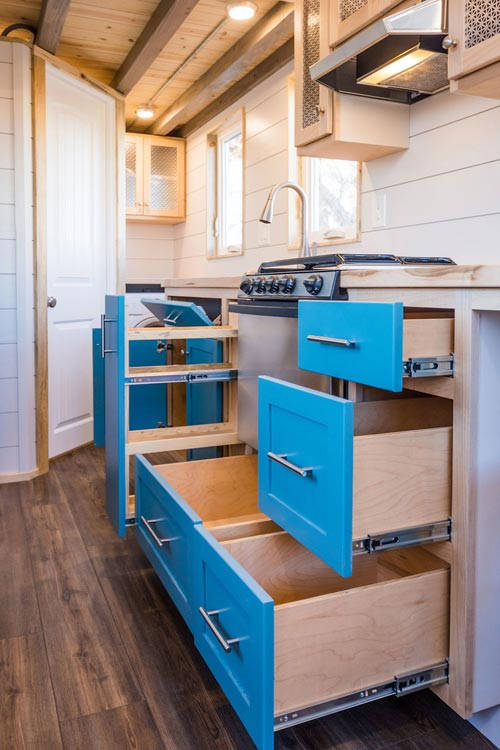 Soft Close Drawers - 20' Tiny House by MitchCraft Tiny Homes