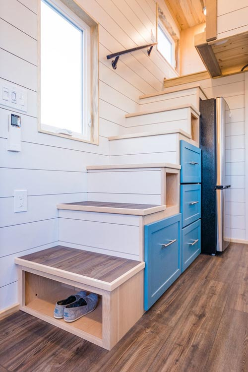 Storage Stairs - 20' Tiny House by MitchCraft Tiny Homes