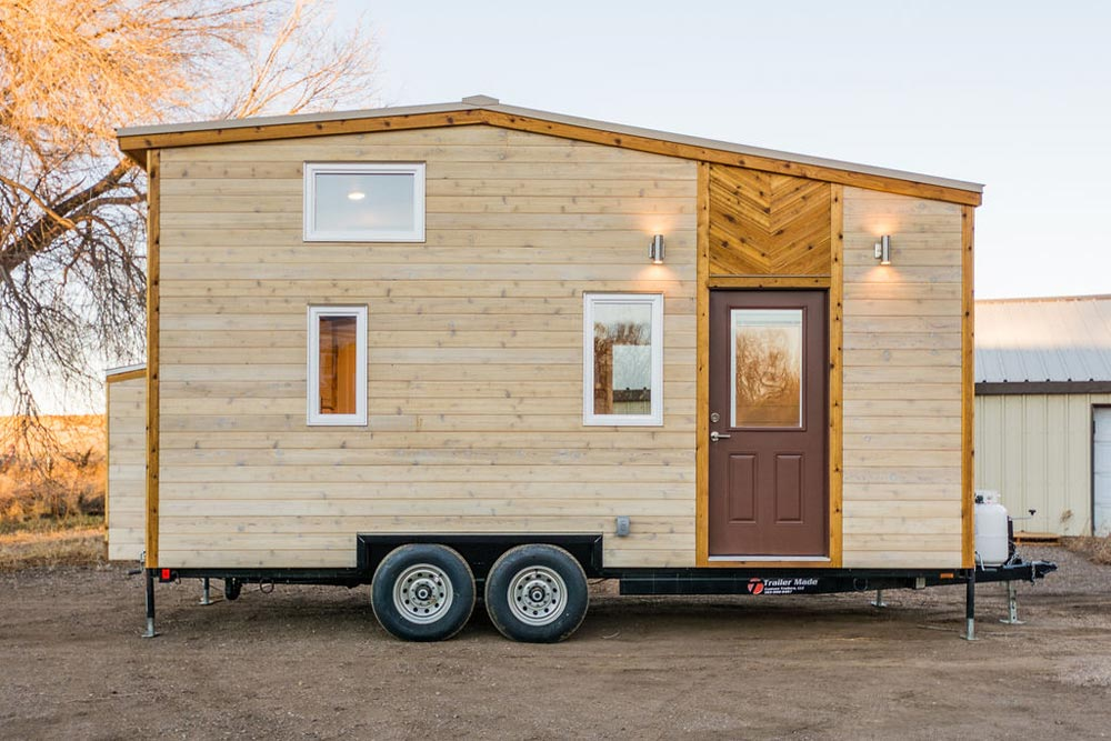 Cedar T&G Siding - 20' Tiny House by MitchCraft Tiny Homes
