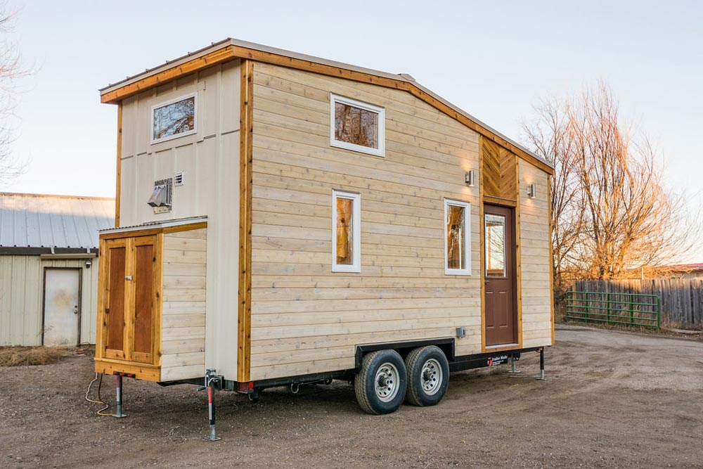 Exterior Storage - 20' Tiny House by MitchCraft Tiny Homes