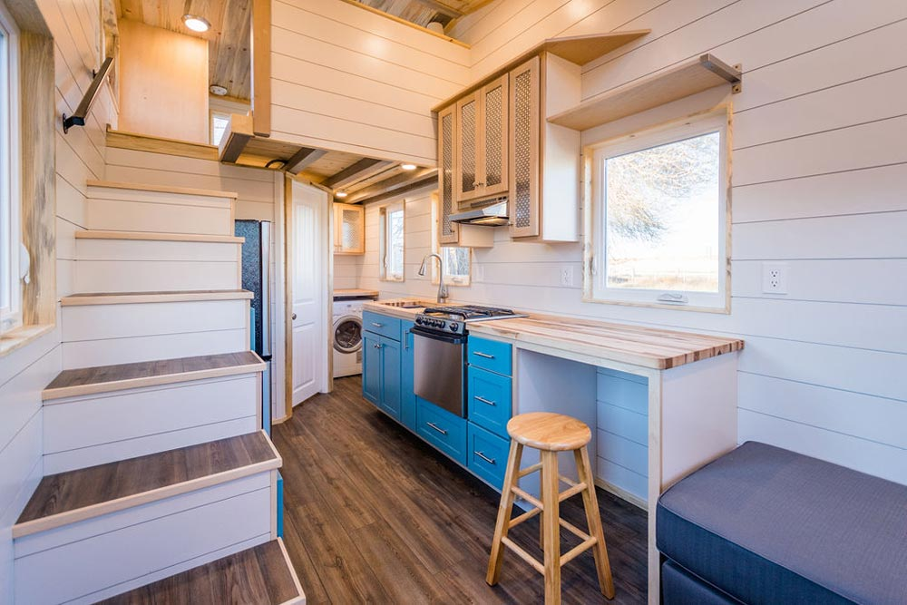 Work/Dining Space - 20' Tiny House by MitchCraft Tiny Homes