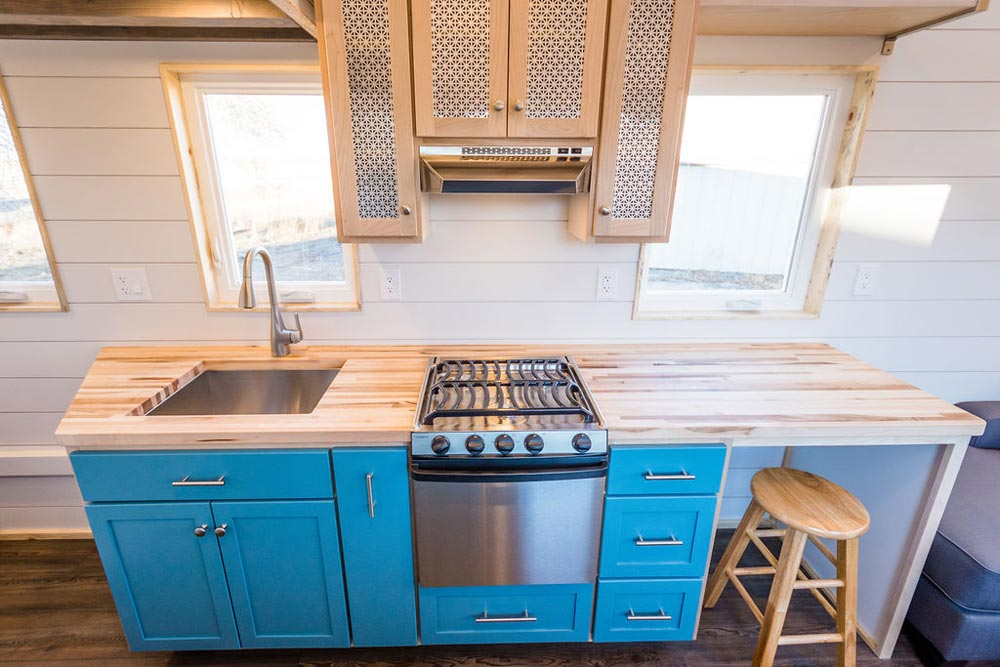 Maple Butcher Block Counter - 20' Tiny House by MitchCraft Tiny Homes