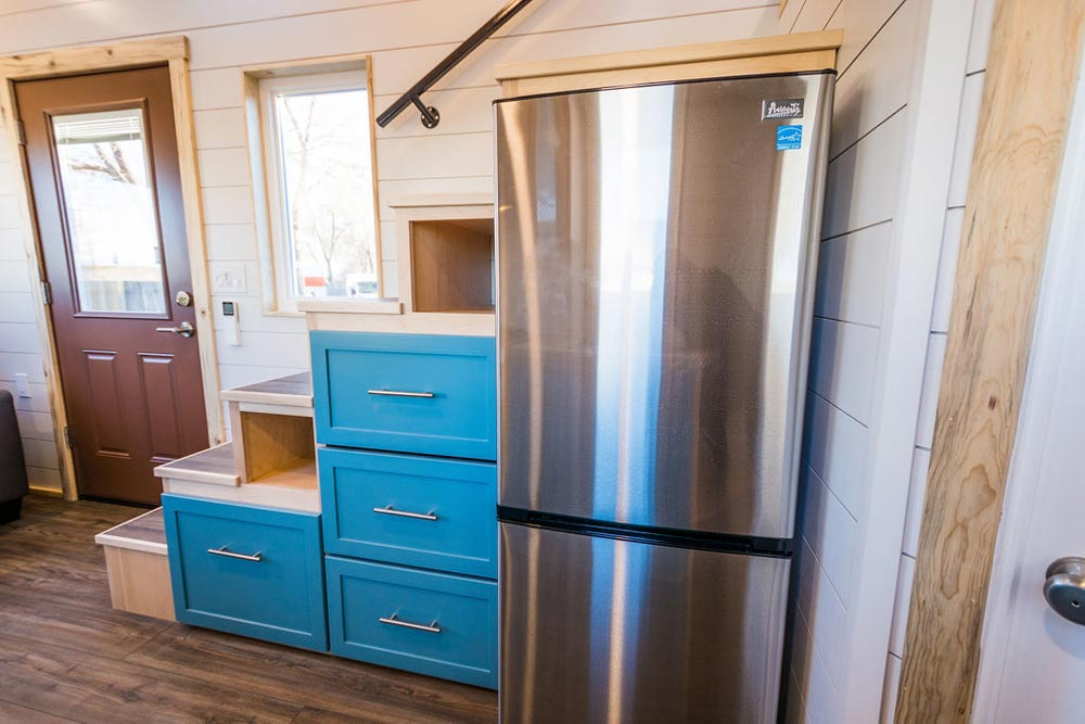 Stainless Steel Refrigerator - 20' Tiny House by MitchCraft Tiny Homes